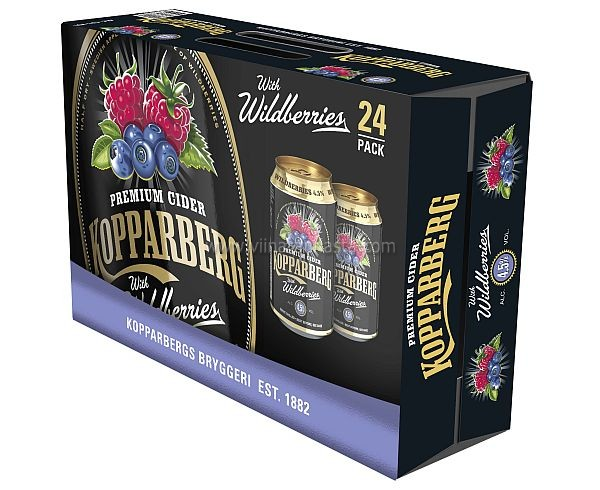 Kopparberg Wildberries 4,5% 24x33cl