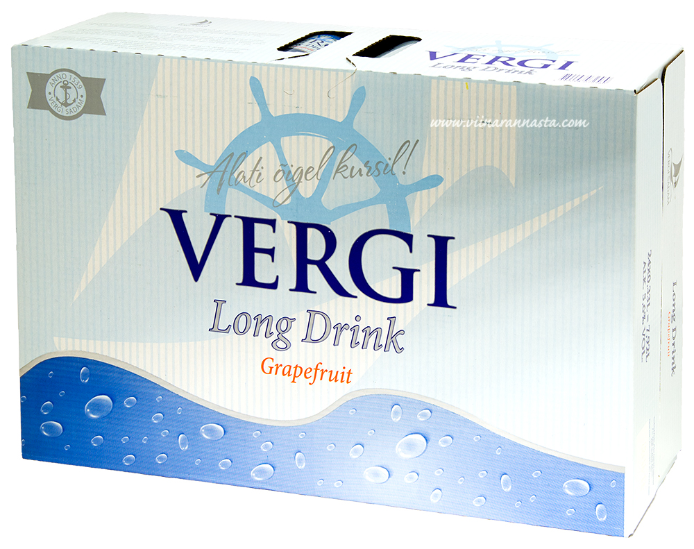 Vergi Long Drink Grapefruit 5,6% 24x33cl